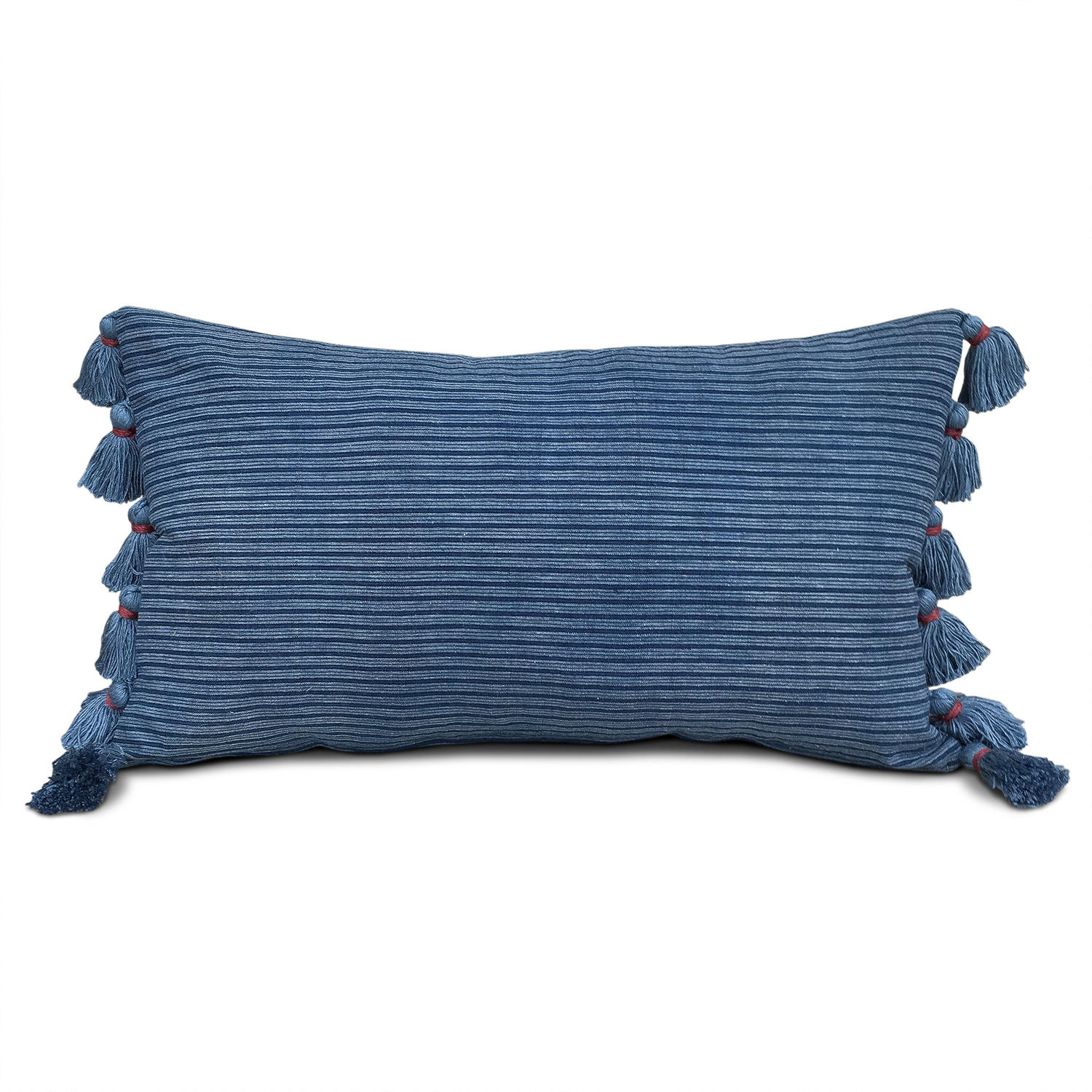 Indigo Shui Cushion with Tassels