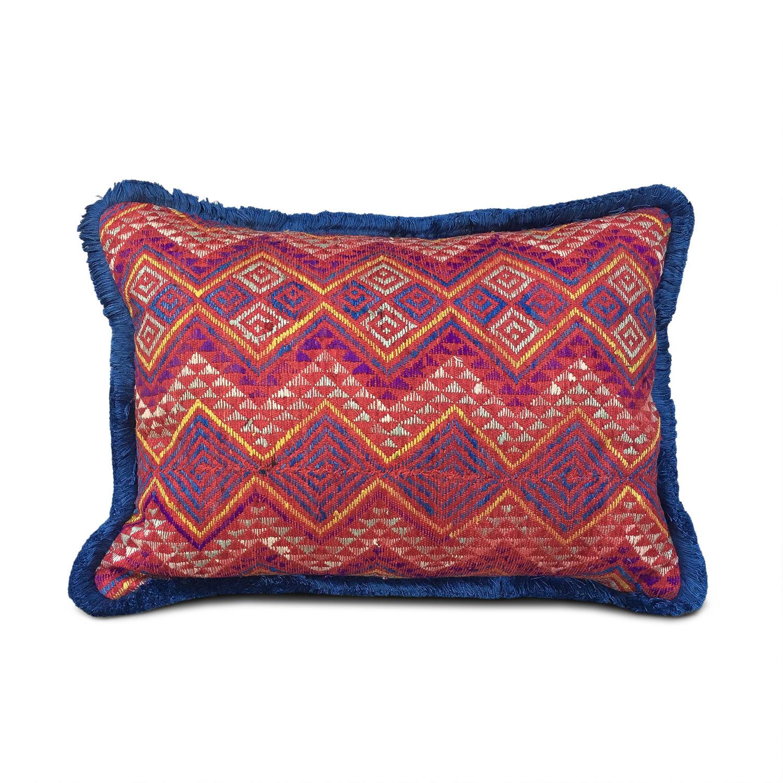 Wedding Blanket Cushions with Fringe Trim