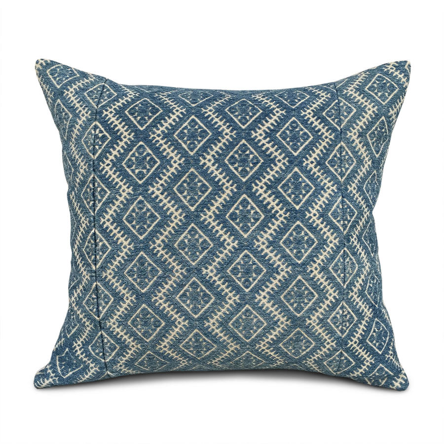 Large Indigo Zhuang Cushion