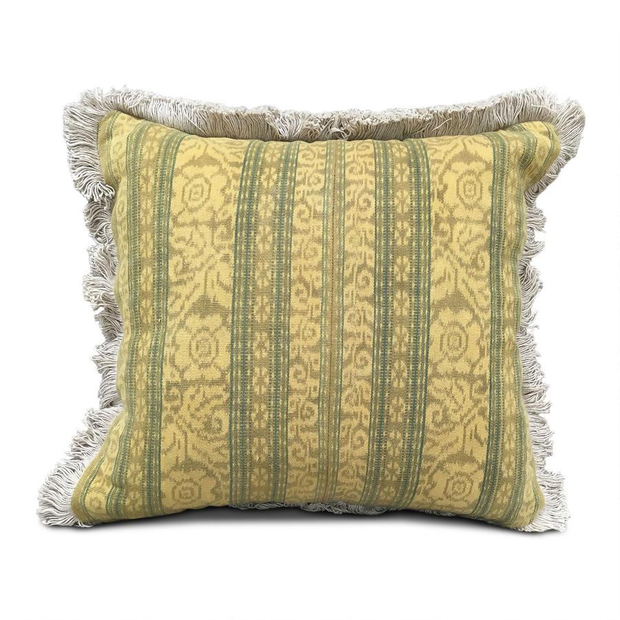 Mustard Ikat Cushions with Fringe