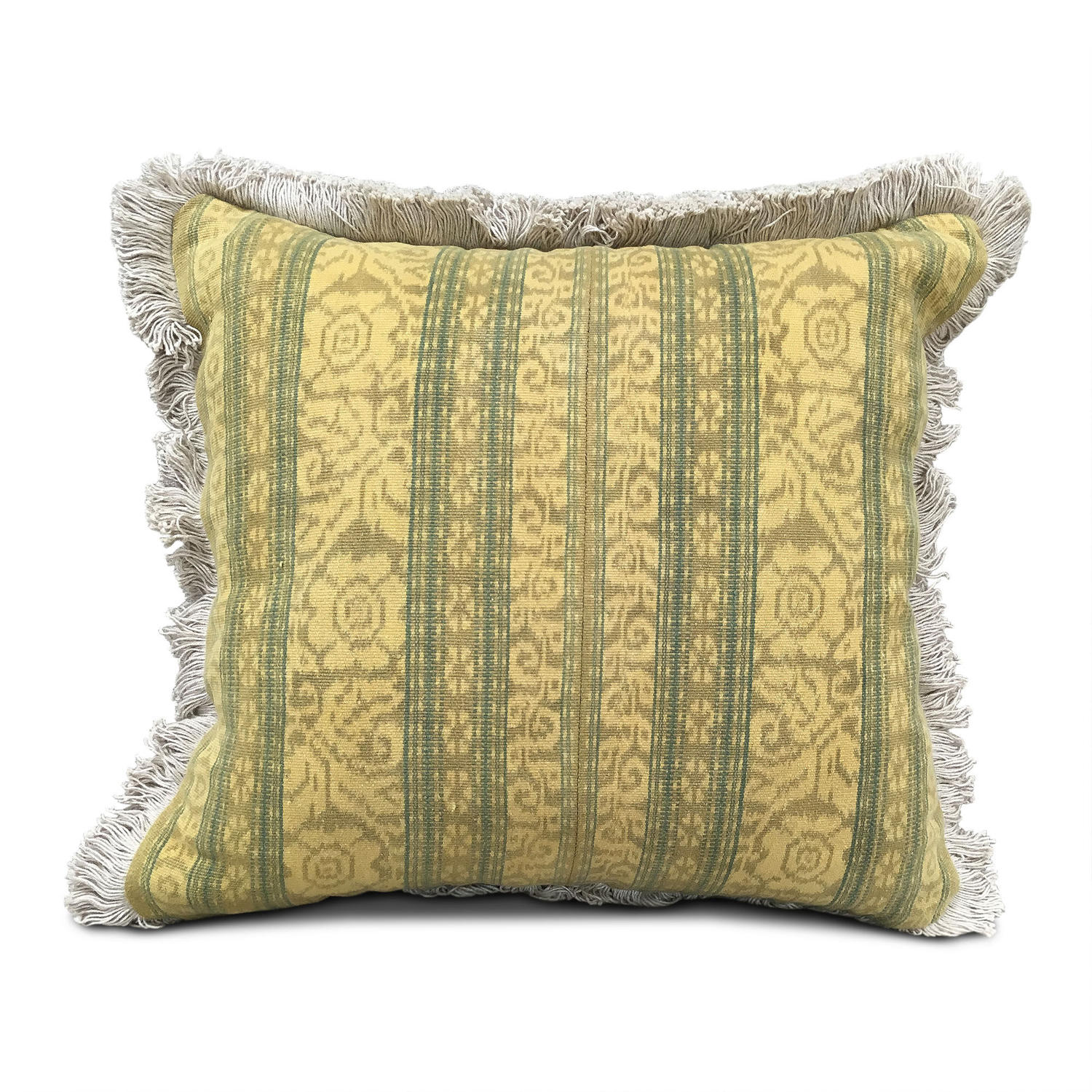 Mustard Ikat Cushions with Fringe