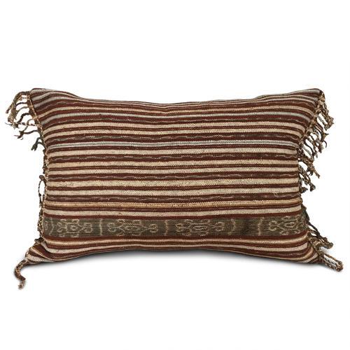 Ikat Cushions with Tassel Fringe Trim