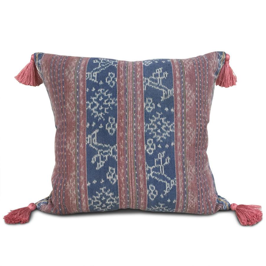 Ikat Cushions wih Rose Tassels