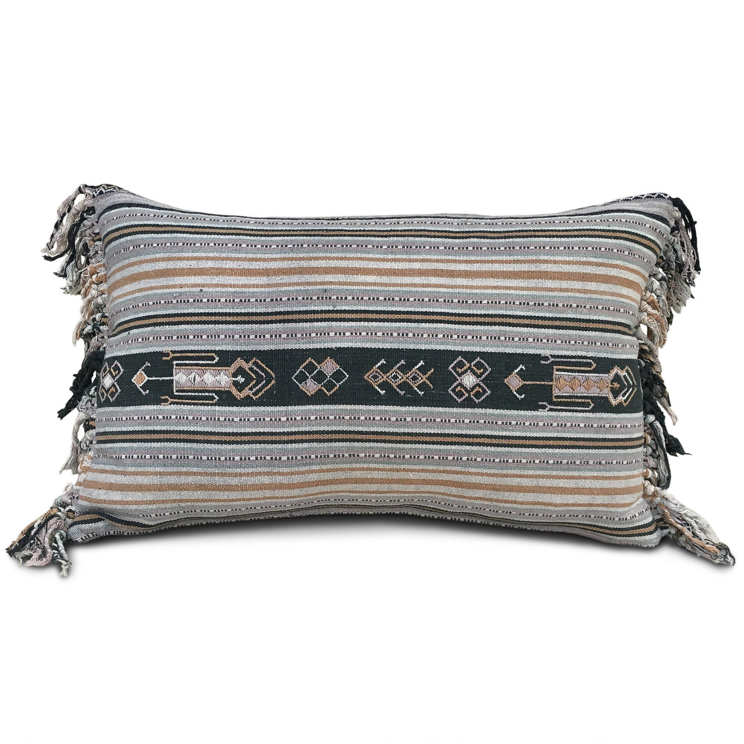 Fringed Ikat Cushion