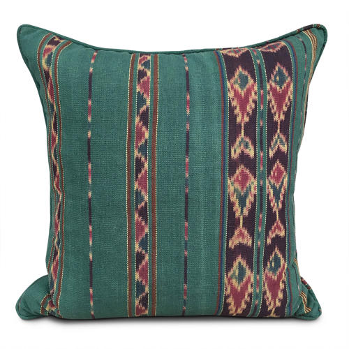 Green Ikat Cushions