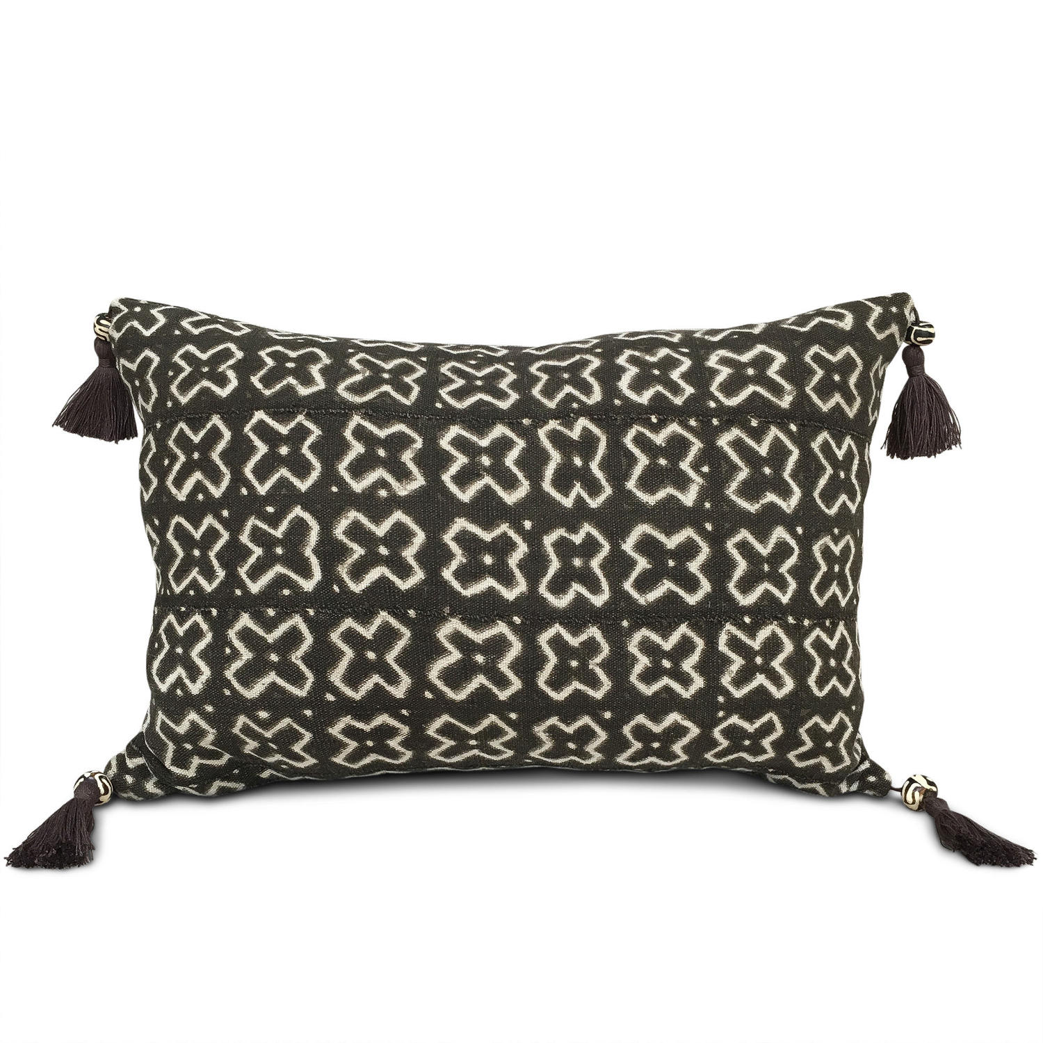 Mud Cloth Cushions with Tassels