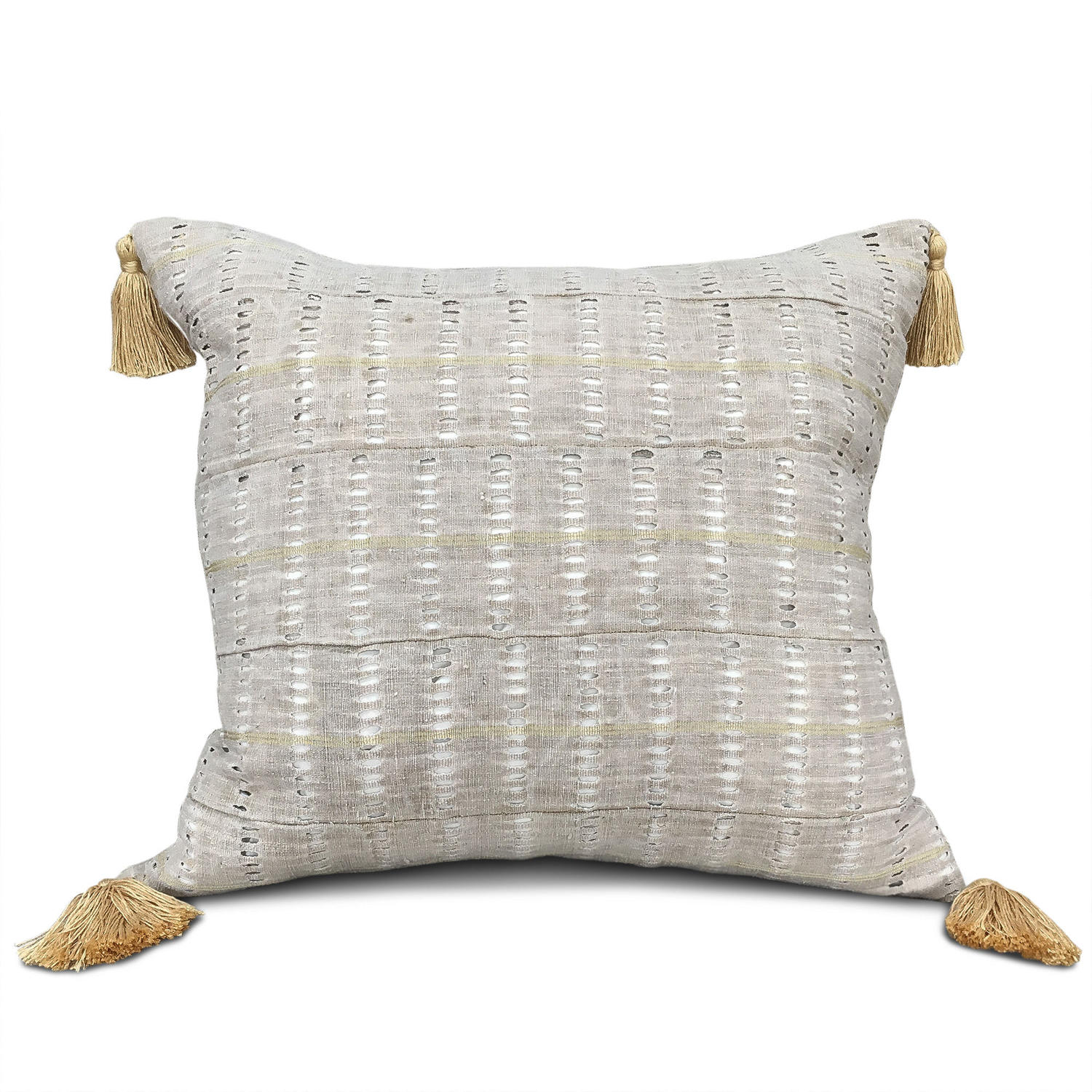 Yoruba Cushions with Yellow Tassels