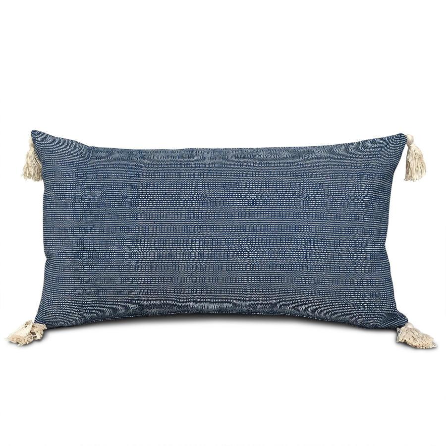 Buyi Homespun Cushion with Tassels
