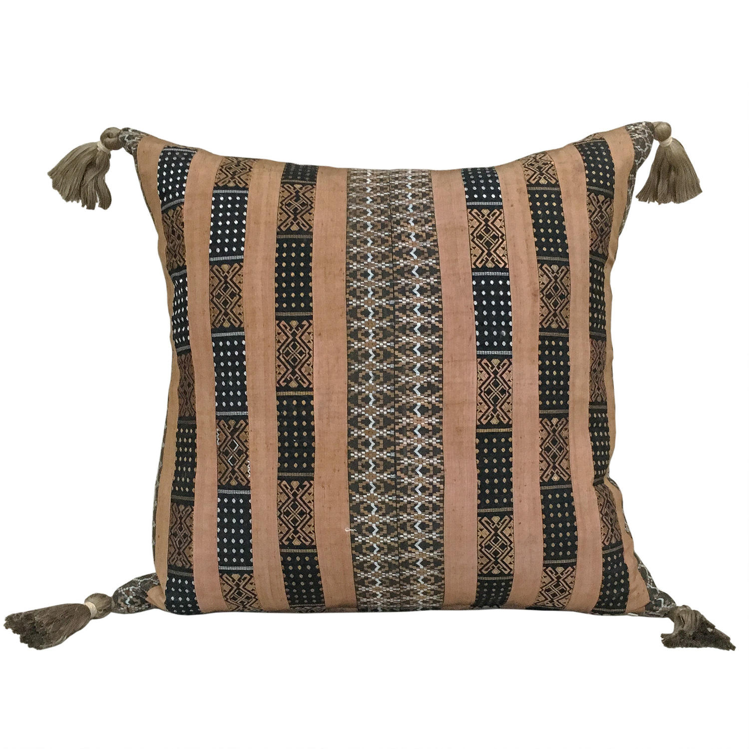 Miao Silk Ribbon Skirt Border Cushion