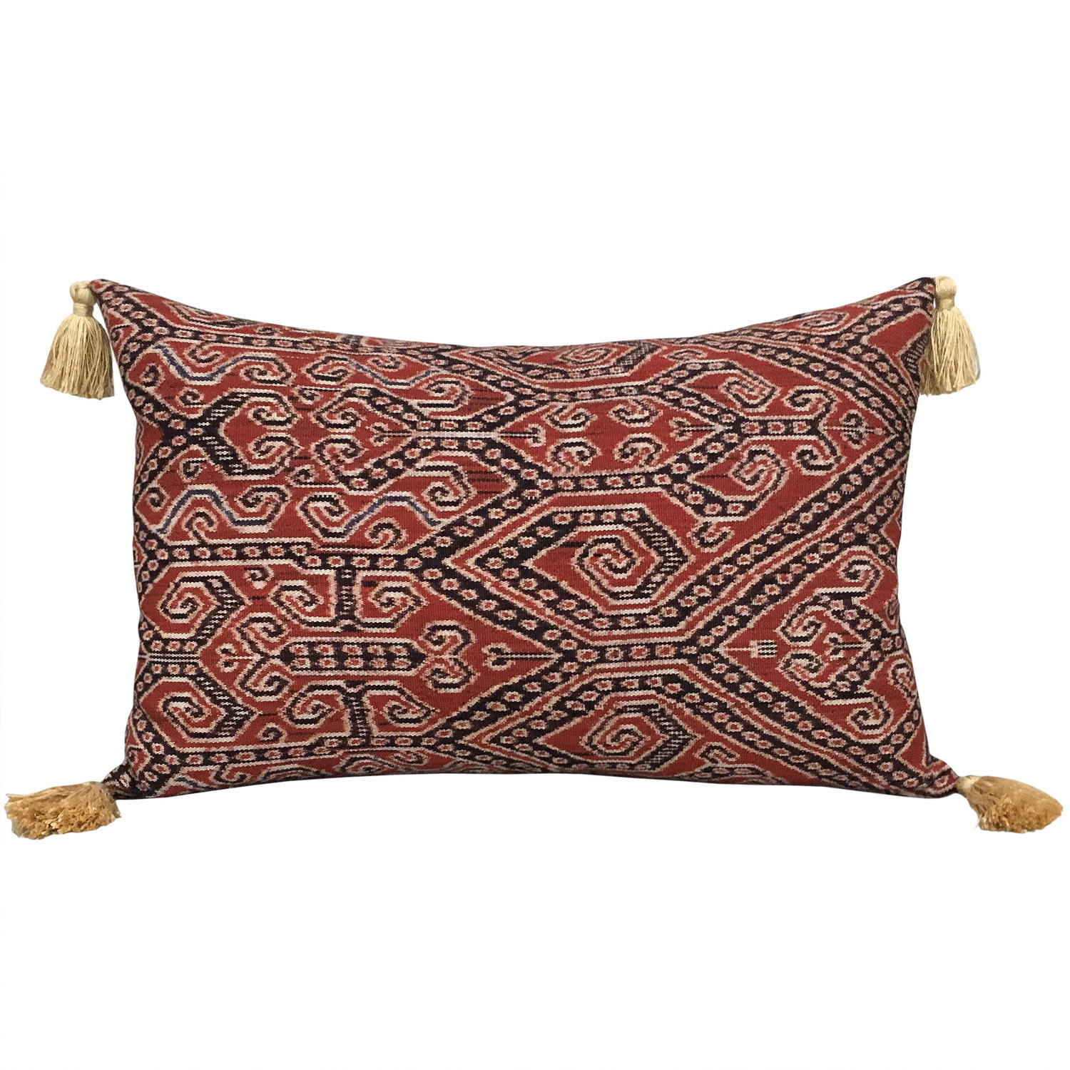 Iban Ikat Cushion with Tassels