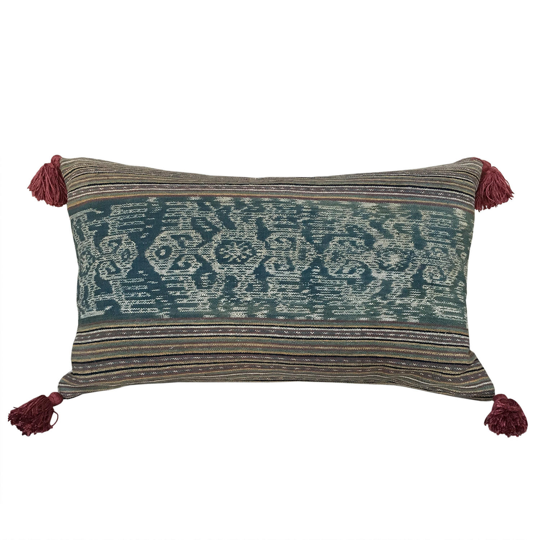 Amanuban Ikat Cushion with Tassels