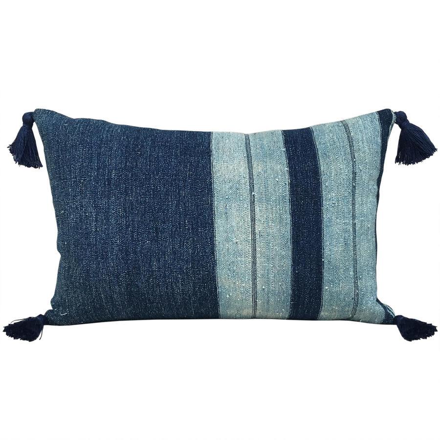 Indigo Igarra Cushions with Tassels