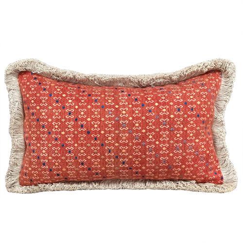 Small Terracotta Wedding Blanket Cushion