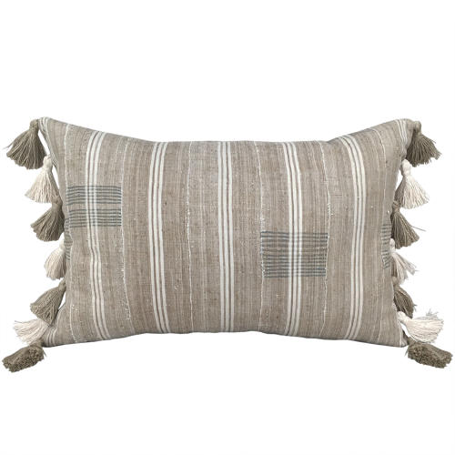 Yoruba Cushions with Natural Tassels