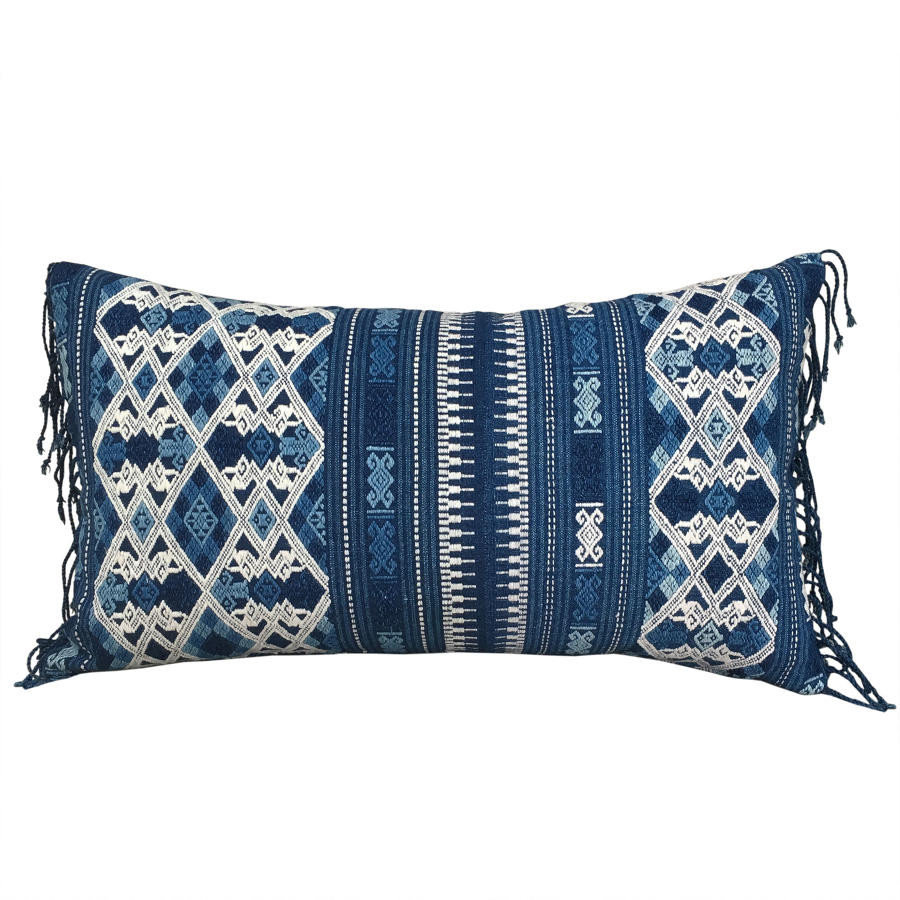 Laos Cushion with Fringed Sides