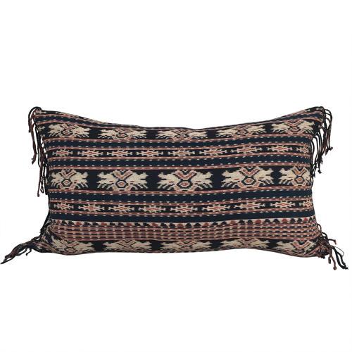 Savu Ikat Cushions with Fringed Sides