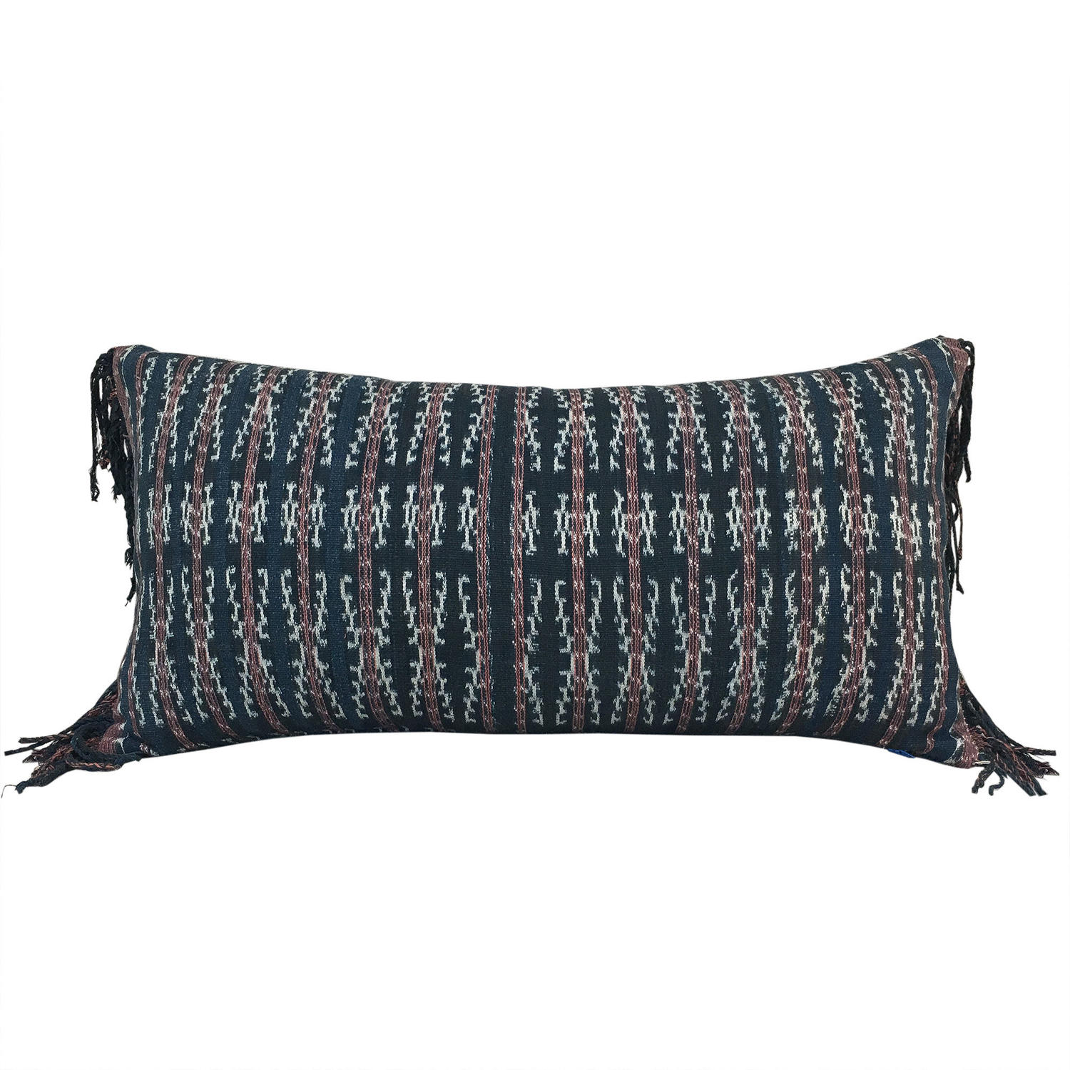 Savu Ikat Cushions with Fringed Sides