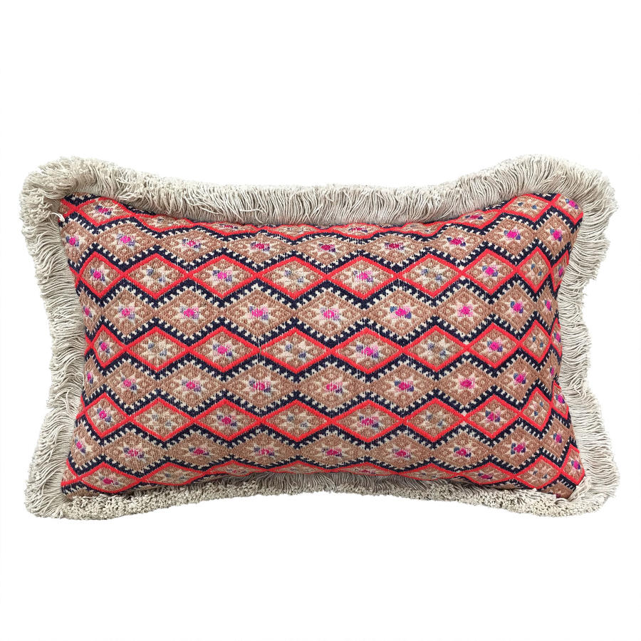 Zhuang Cushion with Fringe Trim