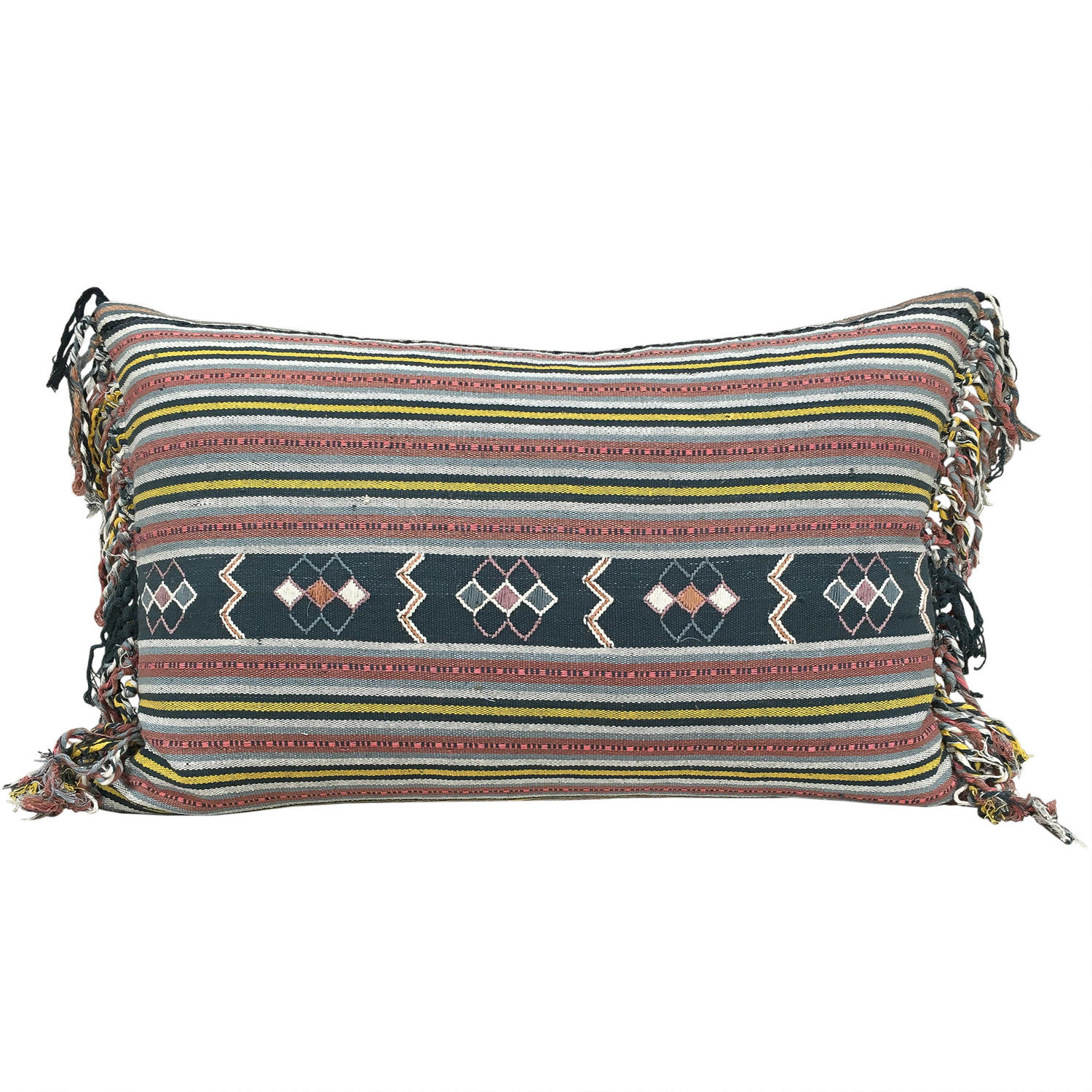 Fringed Ikat Cushions