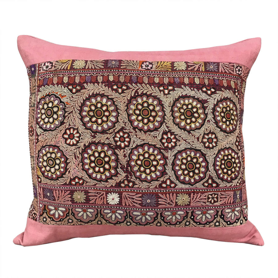 Indian Embroidery Cushion
