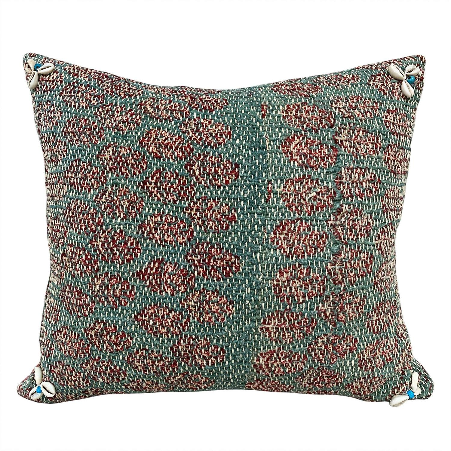 Green Banjara Cushions