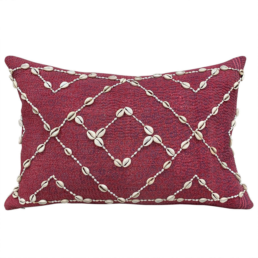 Sami Quilt Cushion with Shells and Seeds