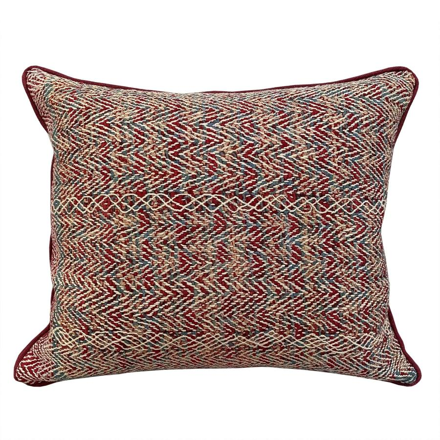 Banjara Cushions in Red and Teal
