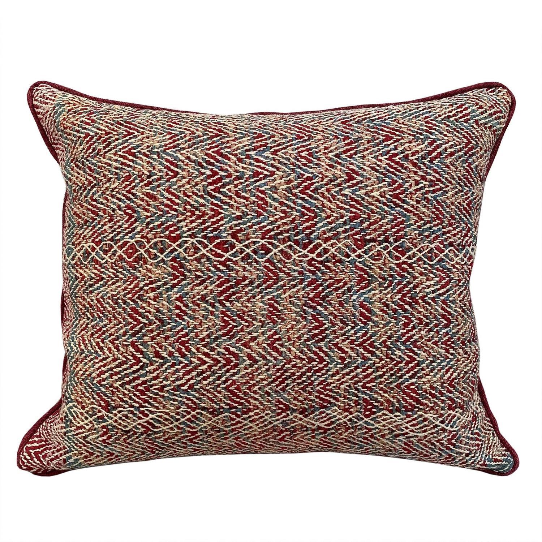 Banjara Cushions in Red and Teal