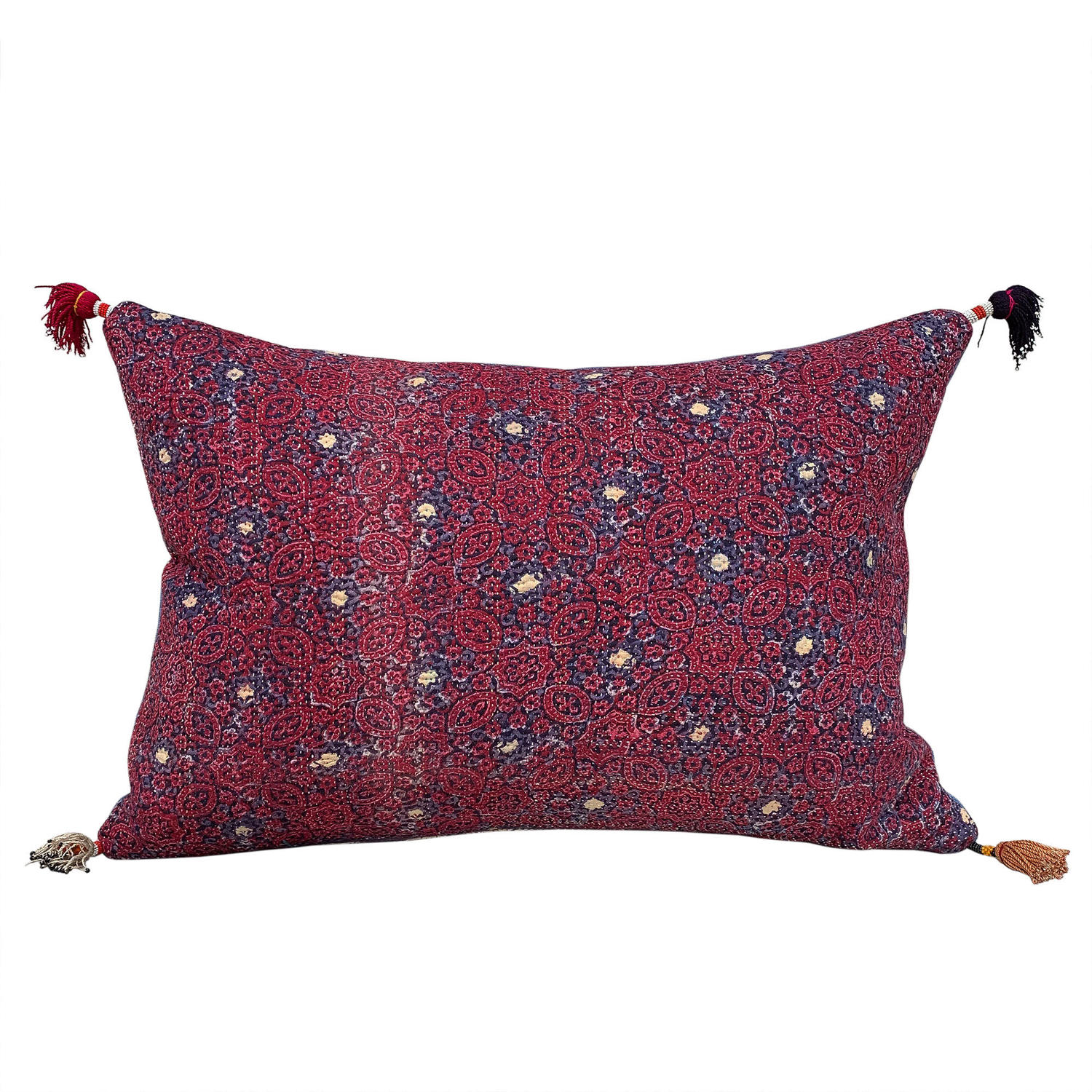 Sami Quilt Cushion with Baluchi Tassels