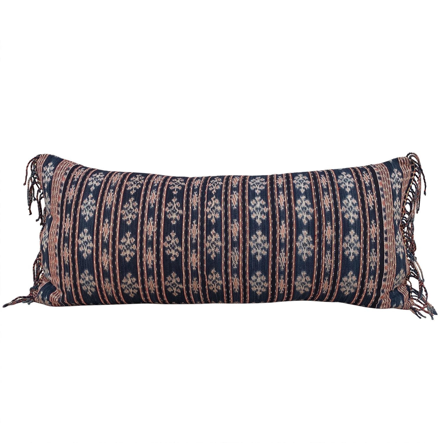 Long Indigo Savu Ikat Cushions
