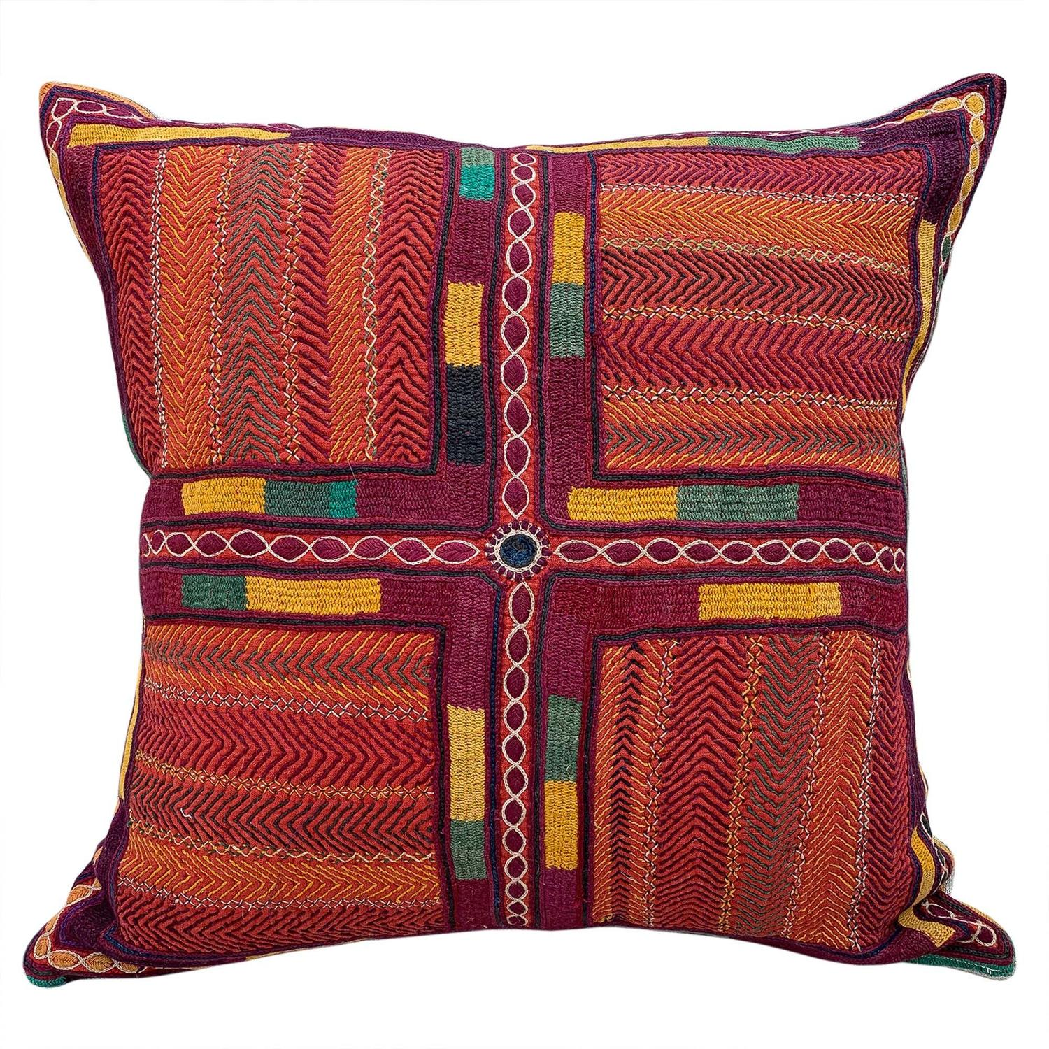 Large Banjara kalchi cushion