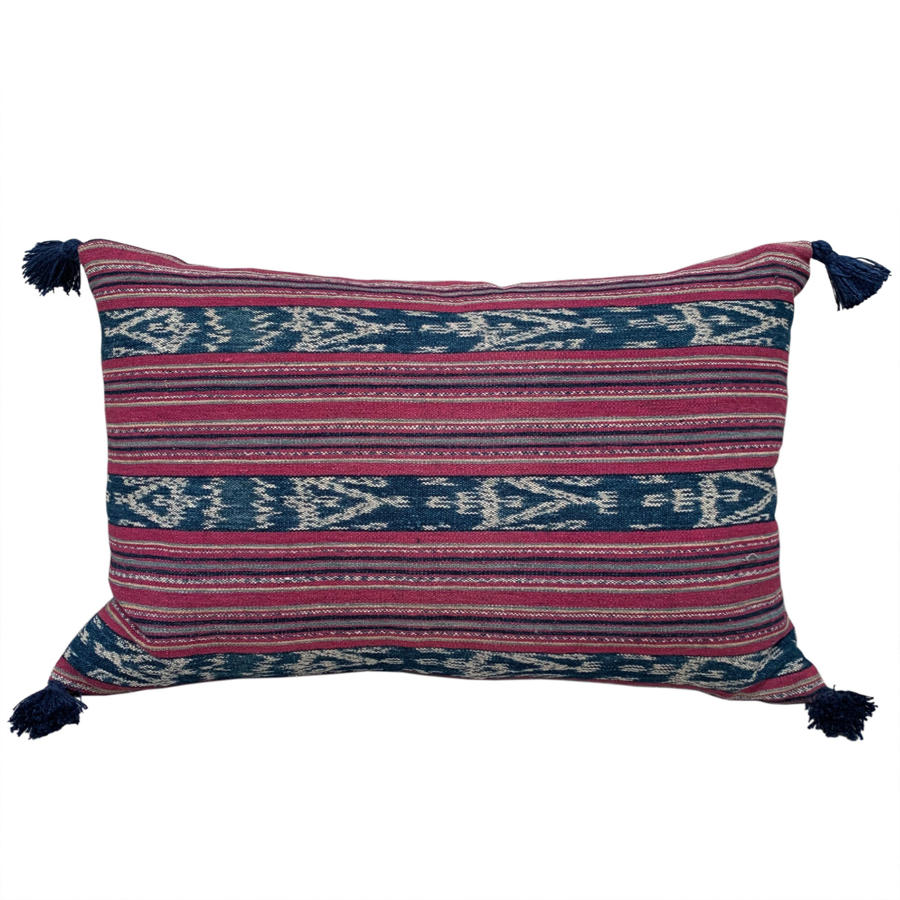 Cochineal ikat cushions