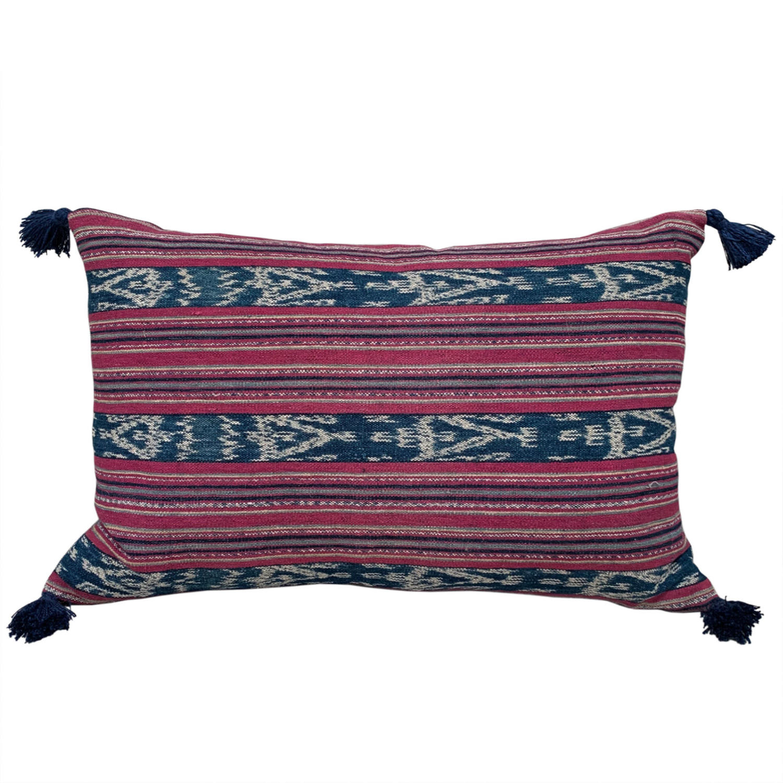 Cochineal ikat cushions