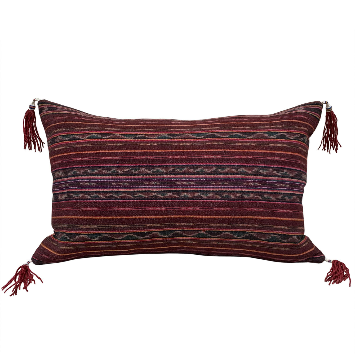 Alor ikat cushion with tassels