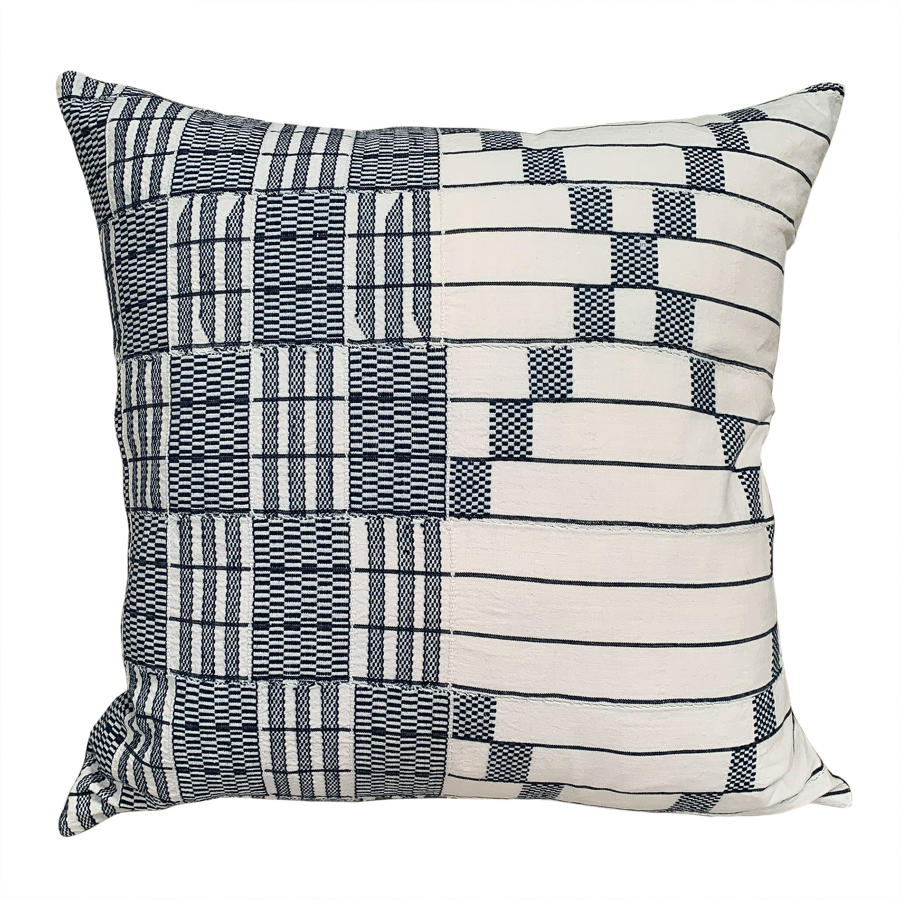 Blue and white Asanti cushions