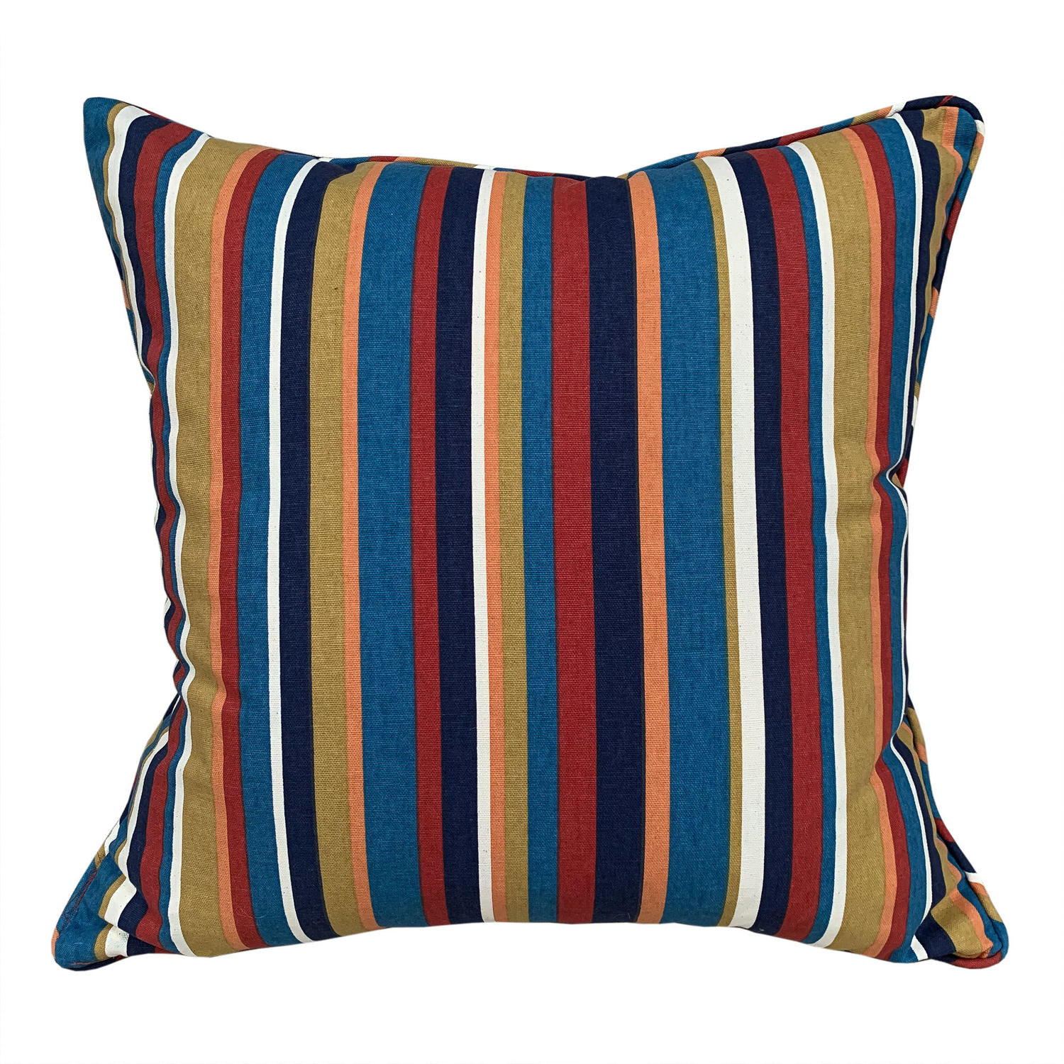 Vintage canvas striped cushions