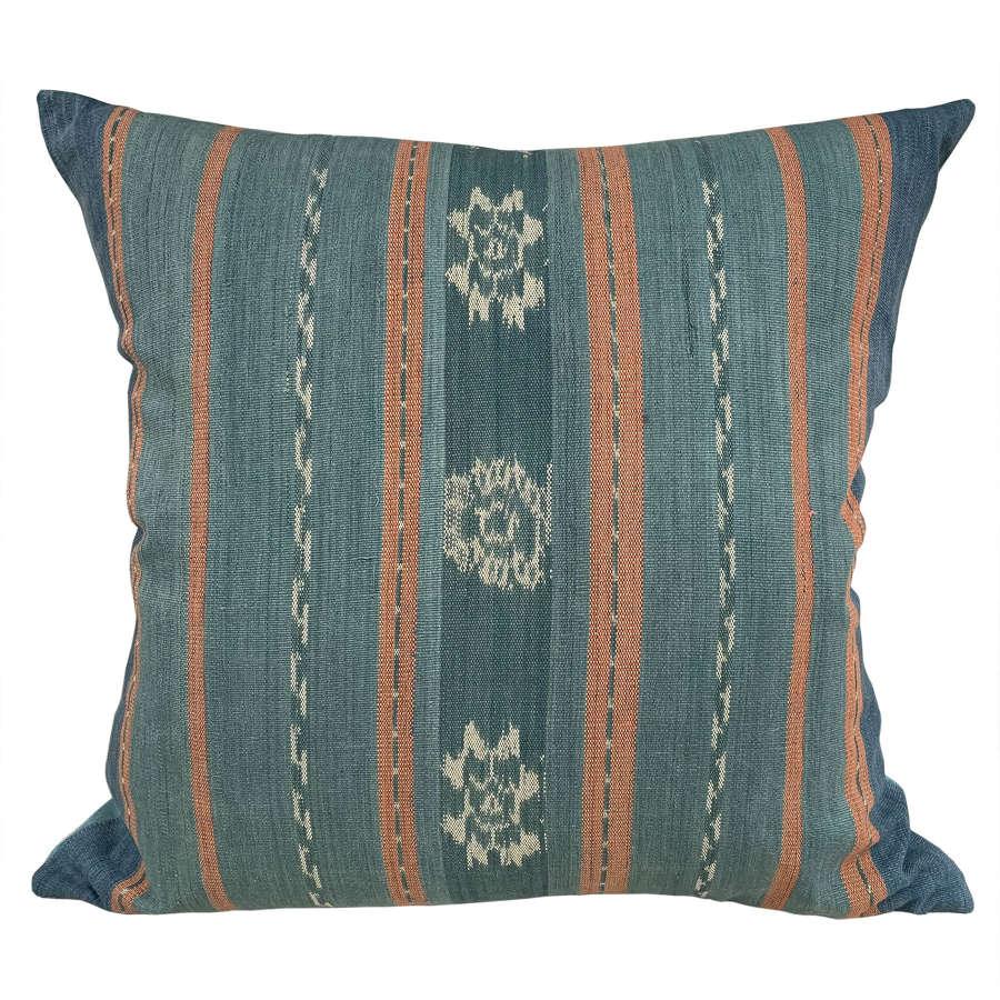 Large Flores ikat cushion