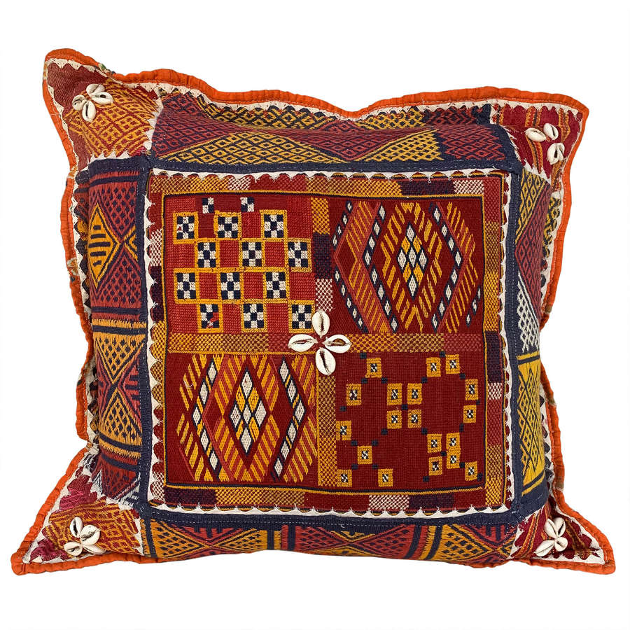 Pretty Banjara rumal cushion