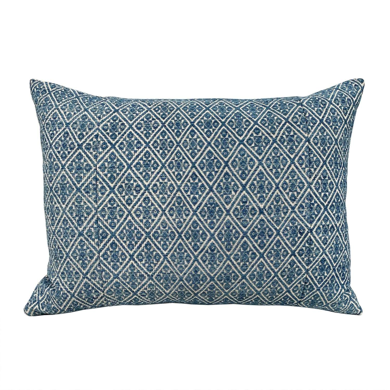 Zhuang pale indigo cushion