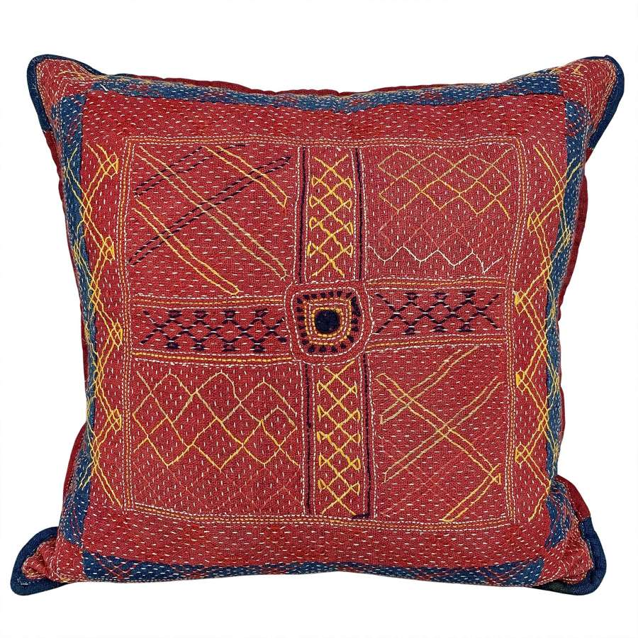 Banjara rumal cushion