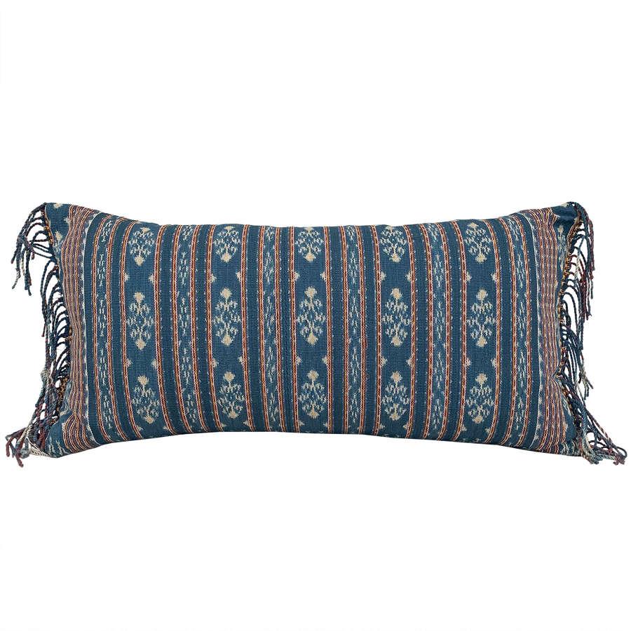 Indigo Savu ikat cushion