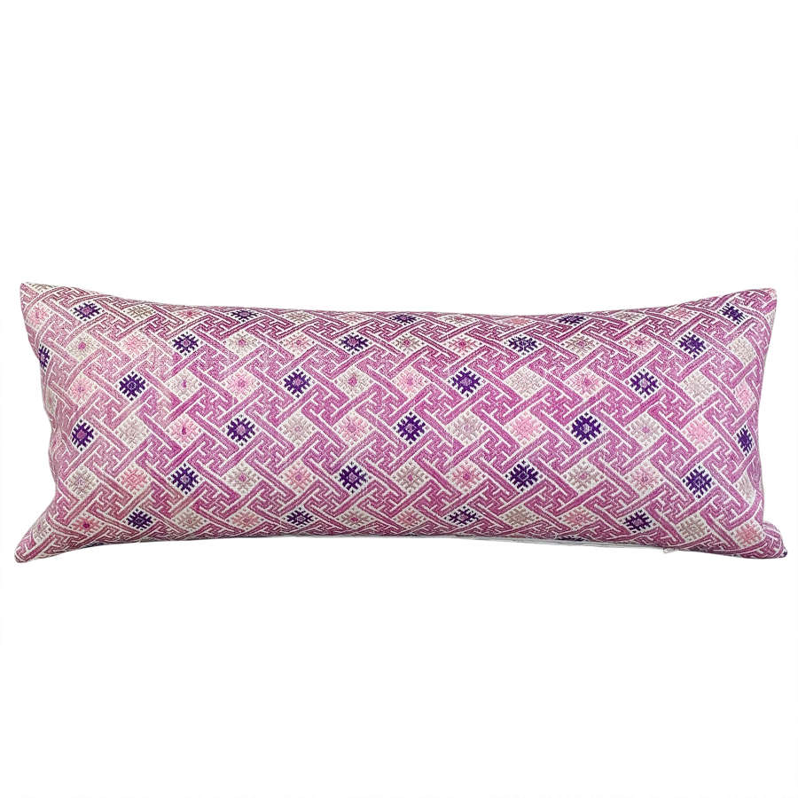Pink wedding blanket cushion