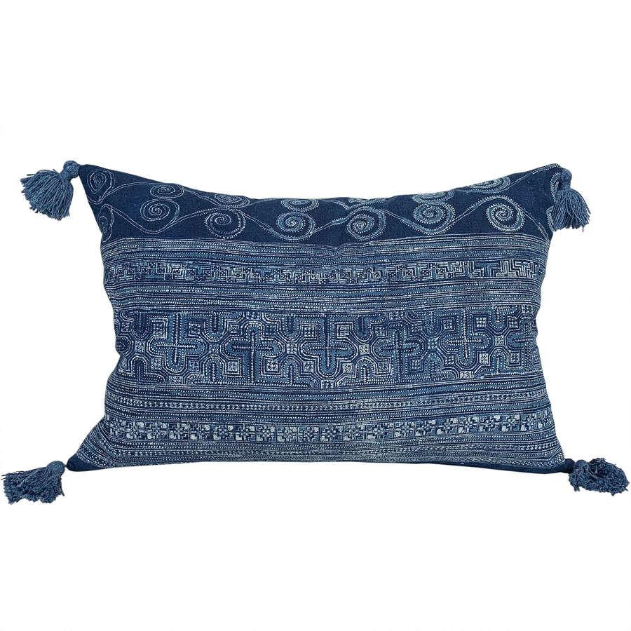 Miao batik cushions with tassels