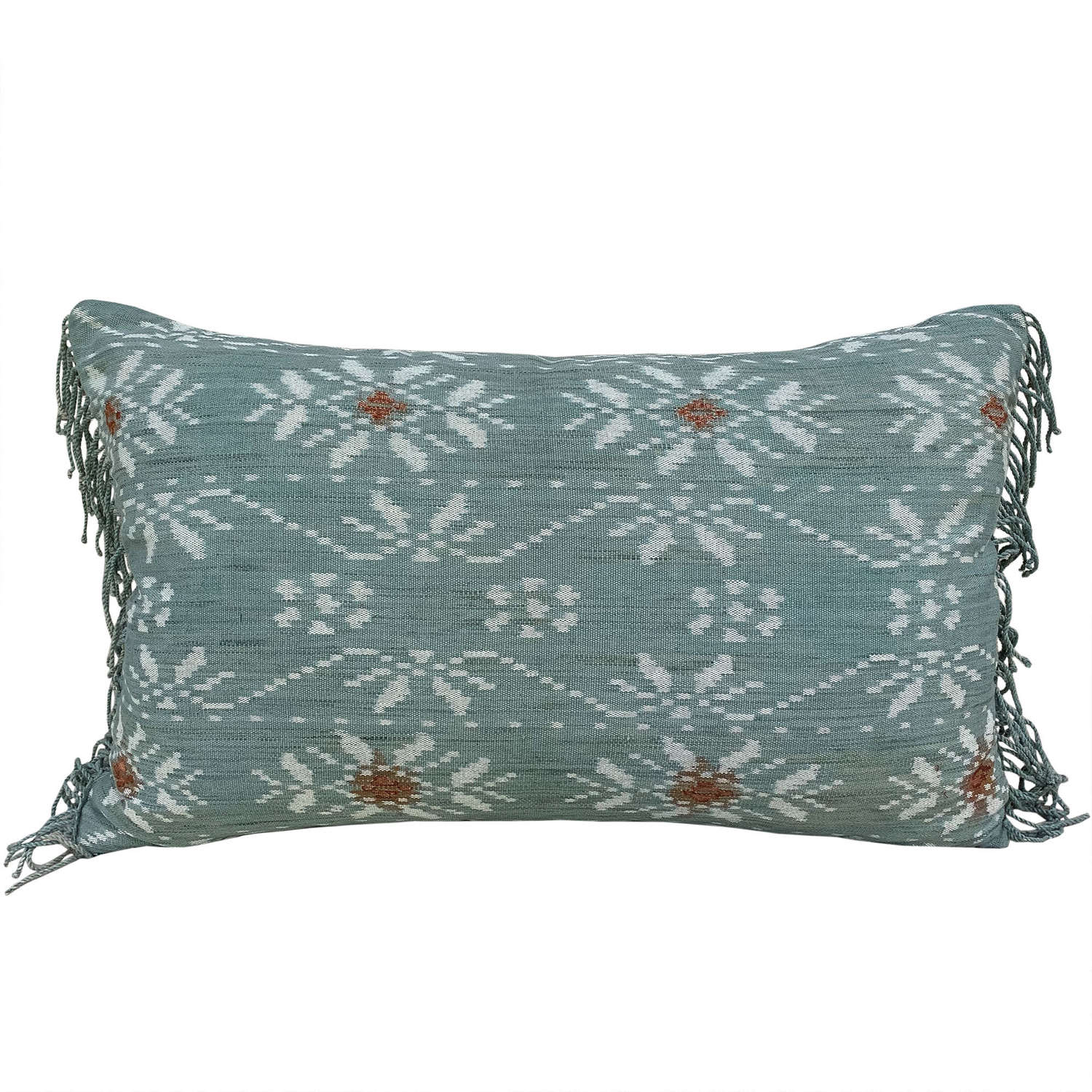 Rote ikat cushion, acqua