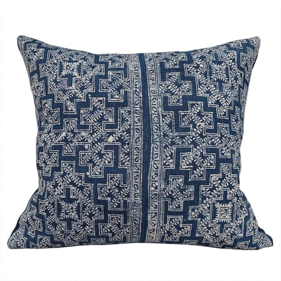 Indigo batik cushions