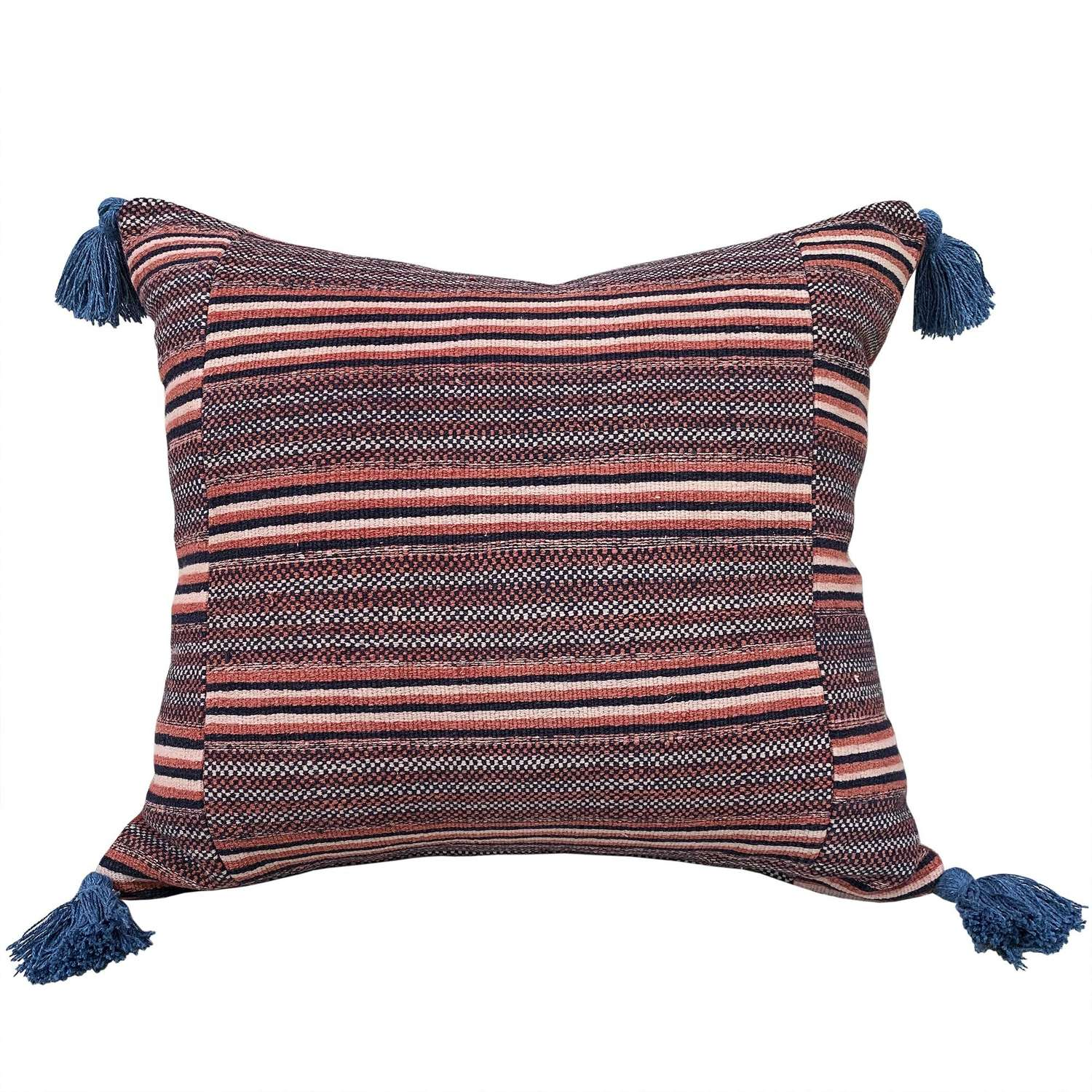 Rusty Zhuang striped cushion with tassels