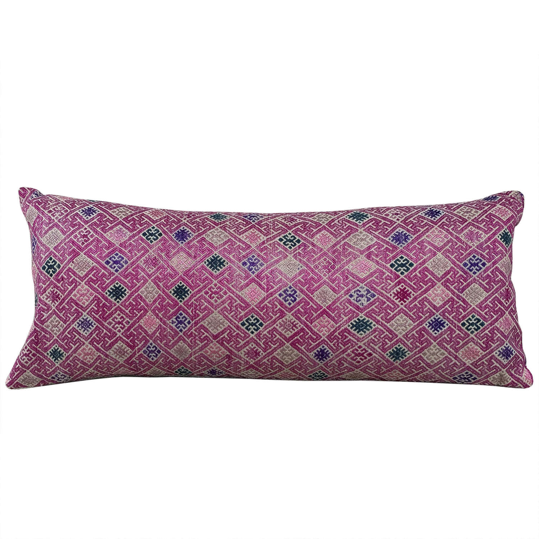 Pink wedding blanket cushion