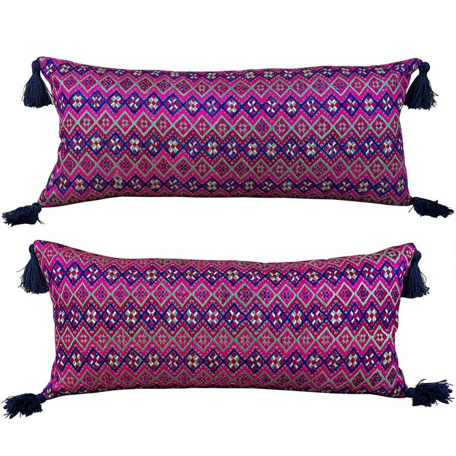 Zhuang cushions with tassels