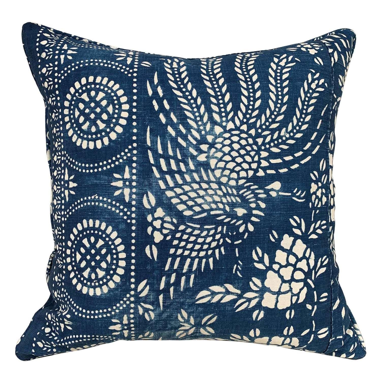 Indigo resist cushion