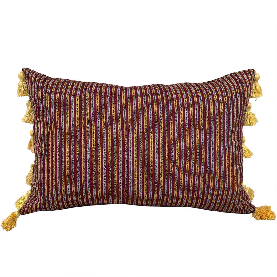 Claret Ewe cushion with tassels